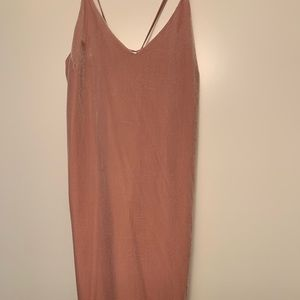 Velvet Pink Mini Dress